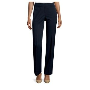 Lafayette 148 tapered slim navy pants trousers 6P